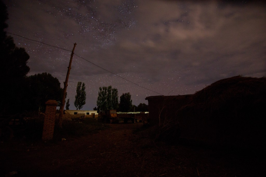 Night Sky above Drink Horse One Army Village as the beatings were occurring