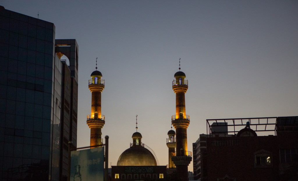 Mosque against the skyline