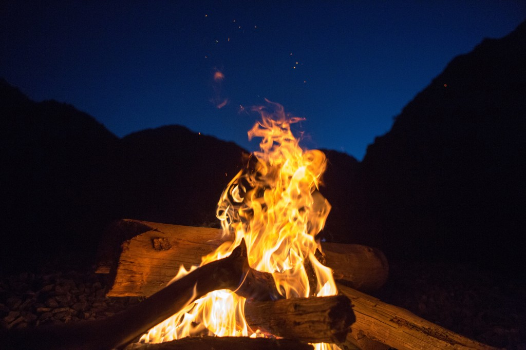 Night time fire