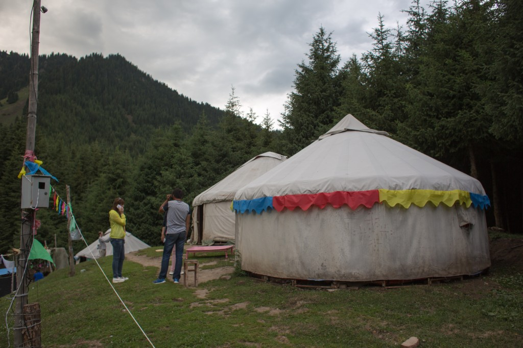Yurts rented to tourists