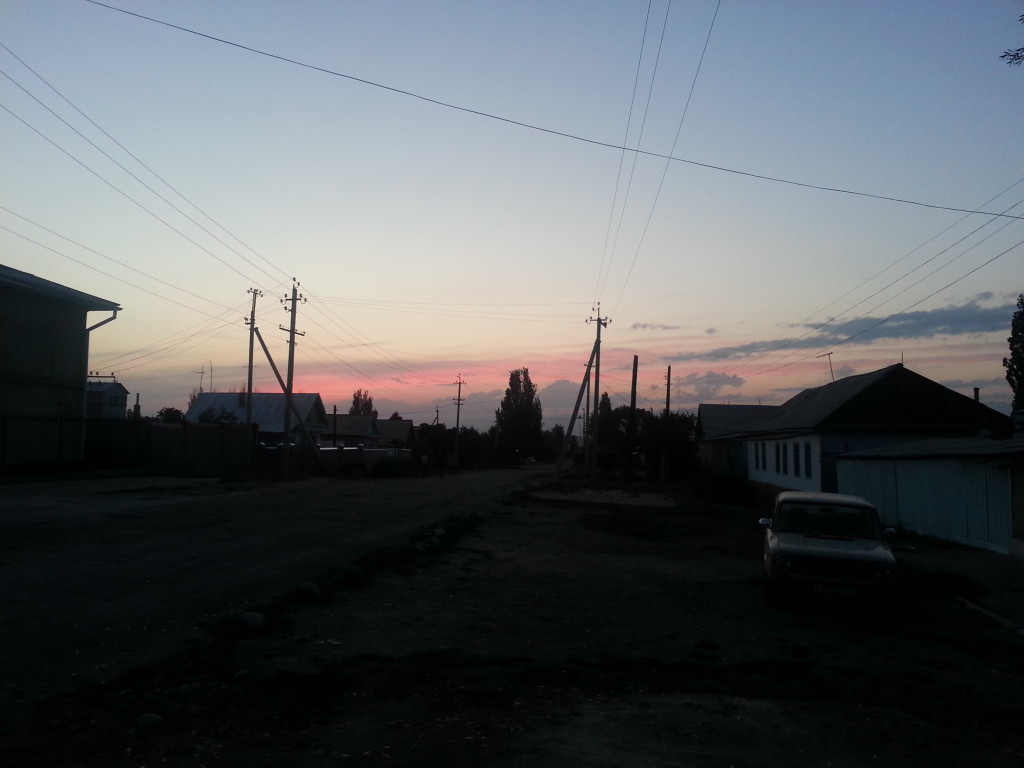 Sunset in Post-Soviet Backwater