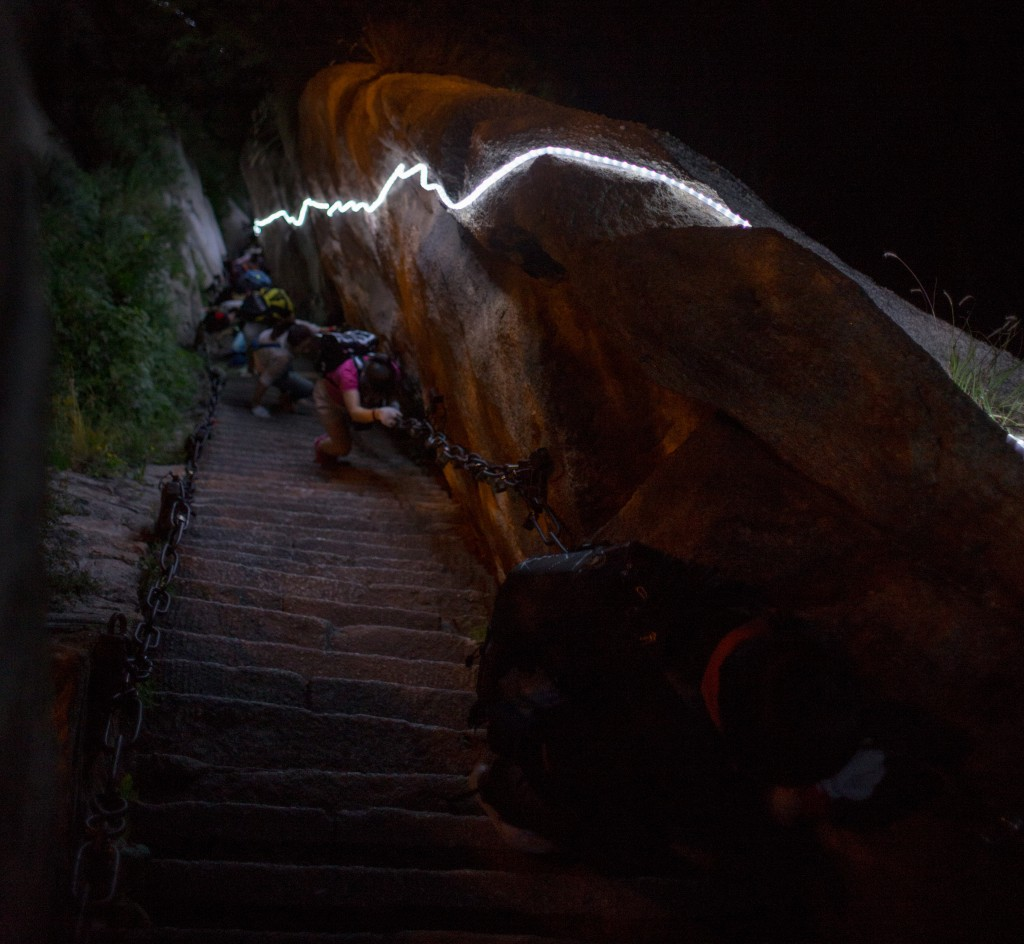 Climbing Mount Hua in the dark